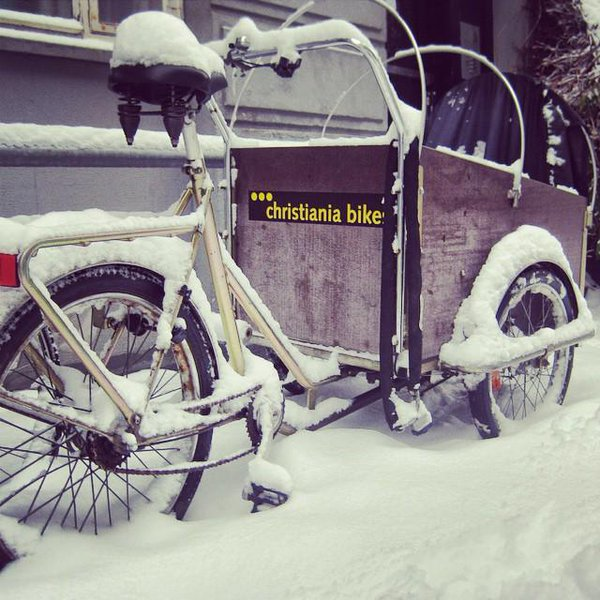 Christiania bikes can sustain harsh weather conditions. From @christianiauk