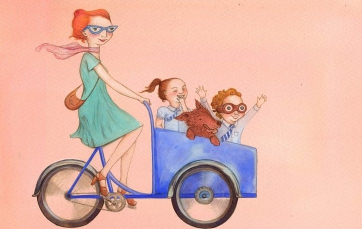 cargo bikes Illustration by Chandra Southall | London Green Cycles