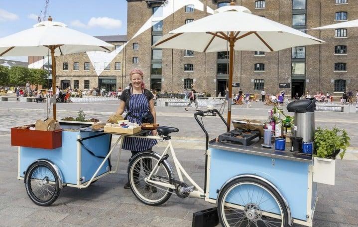 Christiania bike Mobile kitchen cargo bikes London Green Cycles