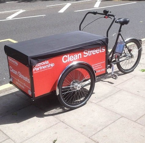 londongreencycles Christiania Cargo Long cleaning team