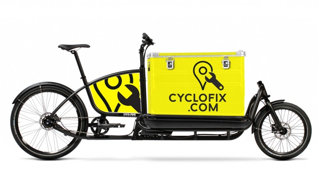 Mobile mechanic cargo bike